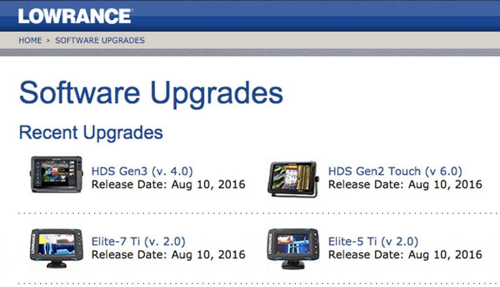 Actualizacion de Software Lowrance